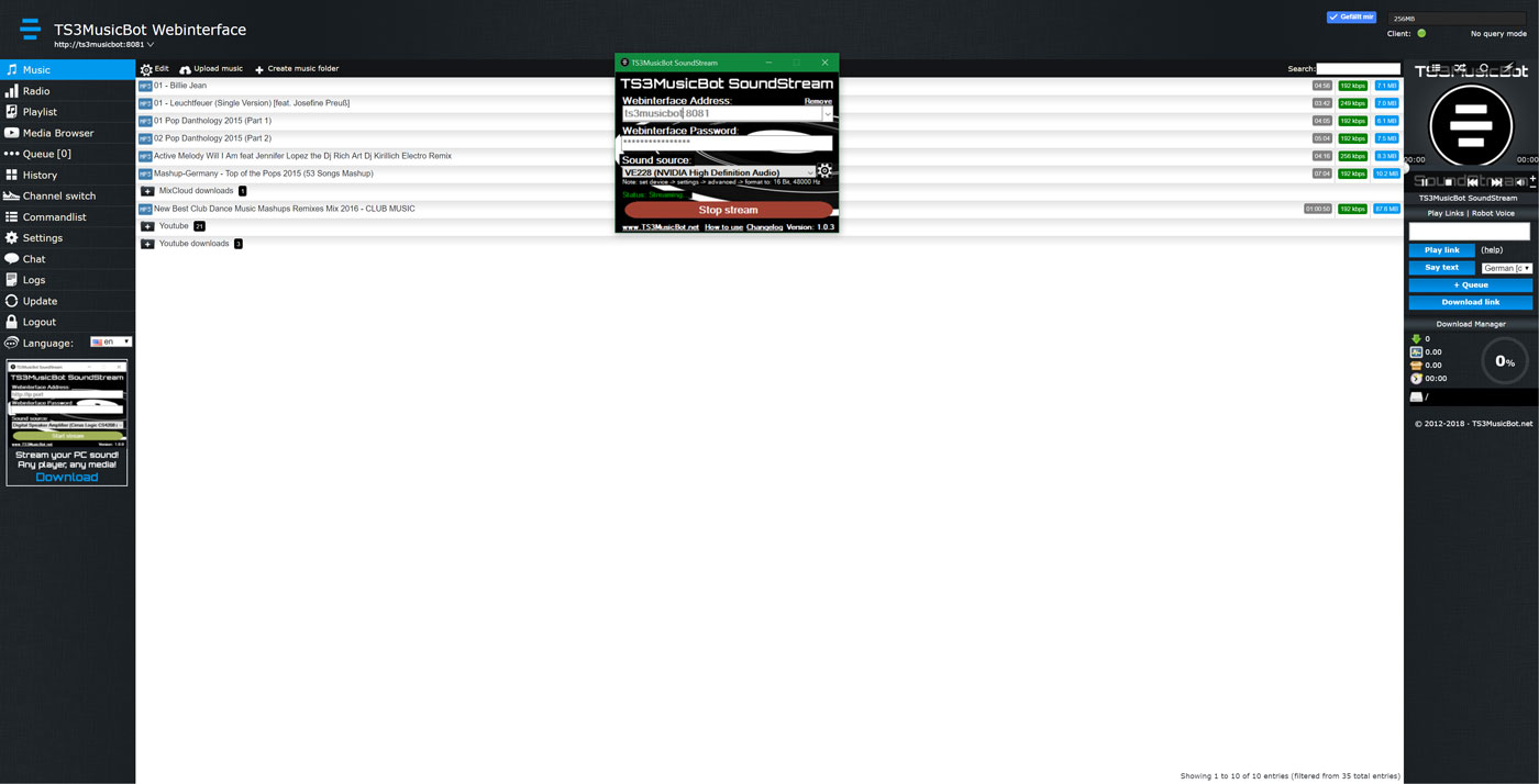 MusicBot4You - TeamSpeak + Discord Music Bots